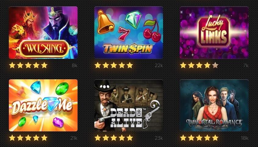 Play slots online here